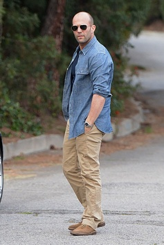 Jason Statham meets up with Rosie Huntington Whiteley in Beverly Hills